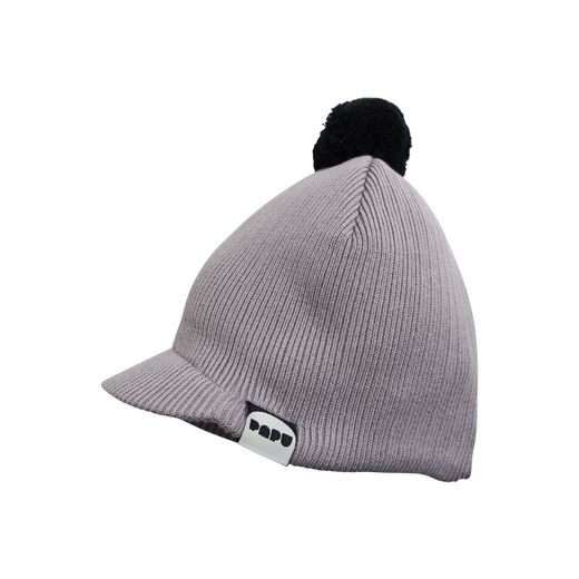 Papu - KNIT TASSEL CAP, Stone grey, Black,