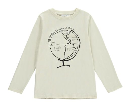 Beau LOves - Globe LS tee, natural