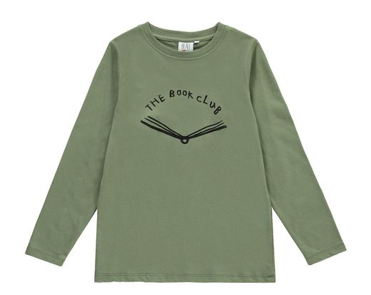 Beau LOves - Book LS tee, moss
