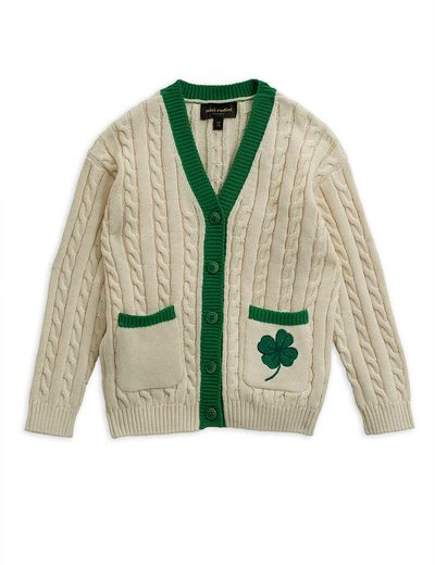 Mini Rodini - Tennis cardigan, white