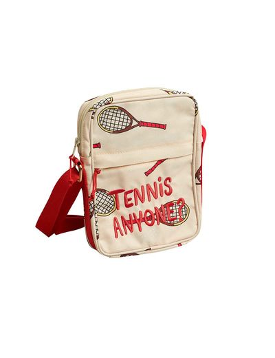 Mini Rodini - Tennis messenger bag, white