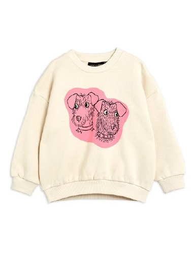 Mini Rodini - Terrier sp sweatshirt, Offwhite