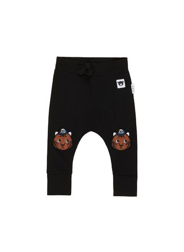 Huxbaby - Tiger Knee Drop Crotch Pant, black