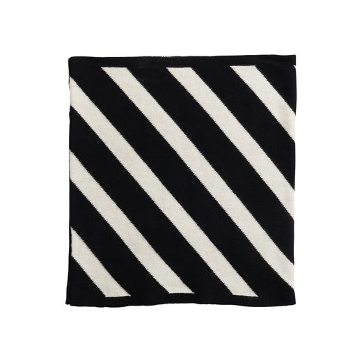 Papu - KNIT STRIPE TUBE SCARF Kid,  Black/sand