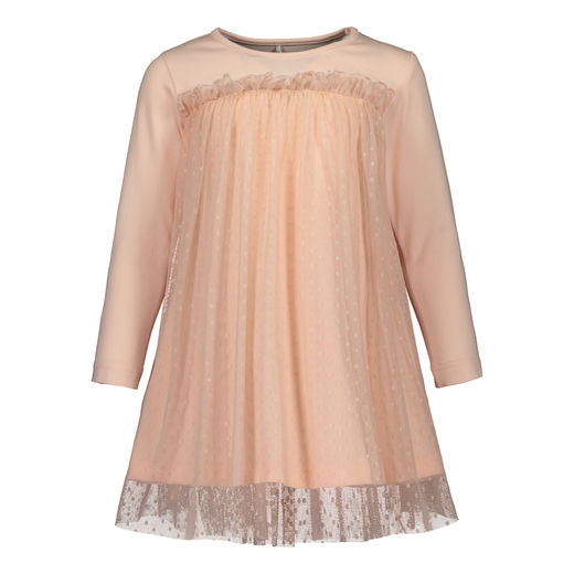 METSOLA - Tulle dress, Pearl Blush / Mini dots
