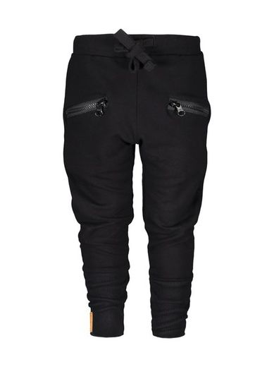 Metsola - Zipper pants, black
