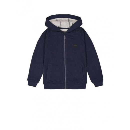 Makia - Zip up hooded sweat, navy
