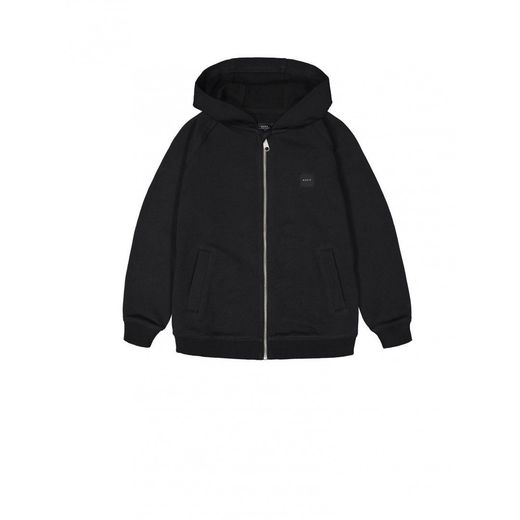 Makia - Zip up hooded sweatshirt, black